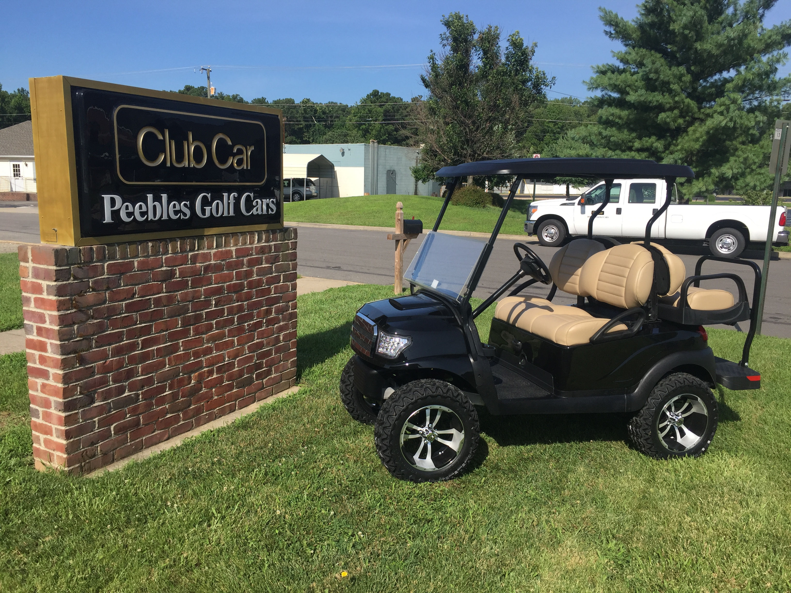 2013 Club Car Precedent Lifted Electric Golf Car Black Alpha