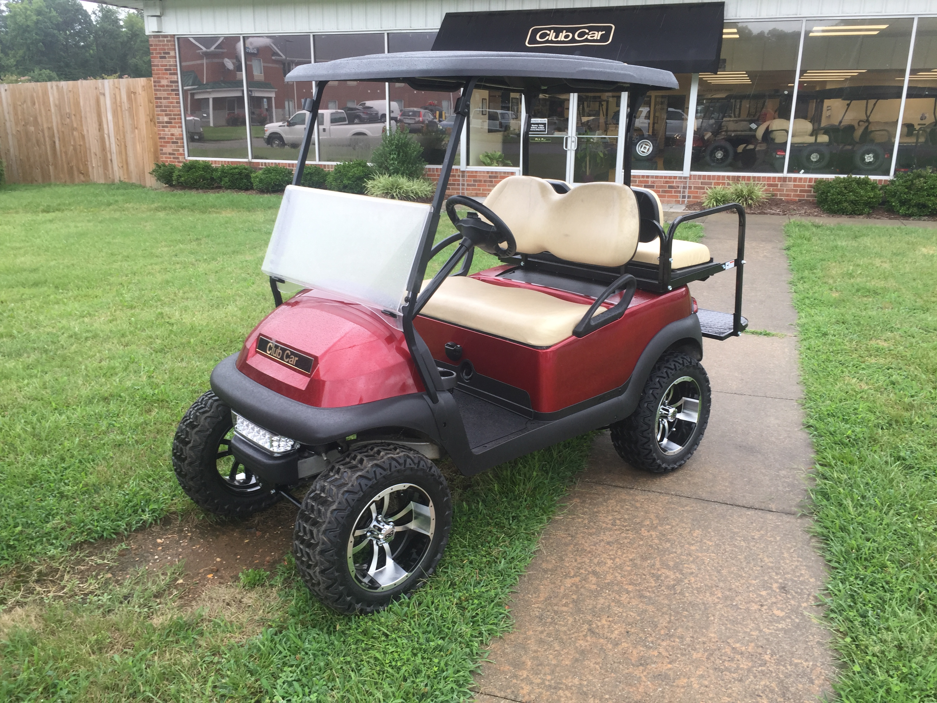 2014 Club Car Precedent Lifted Electric Golf Car Candy Apple Red