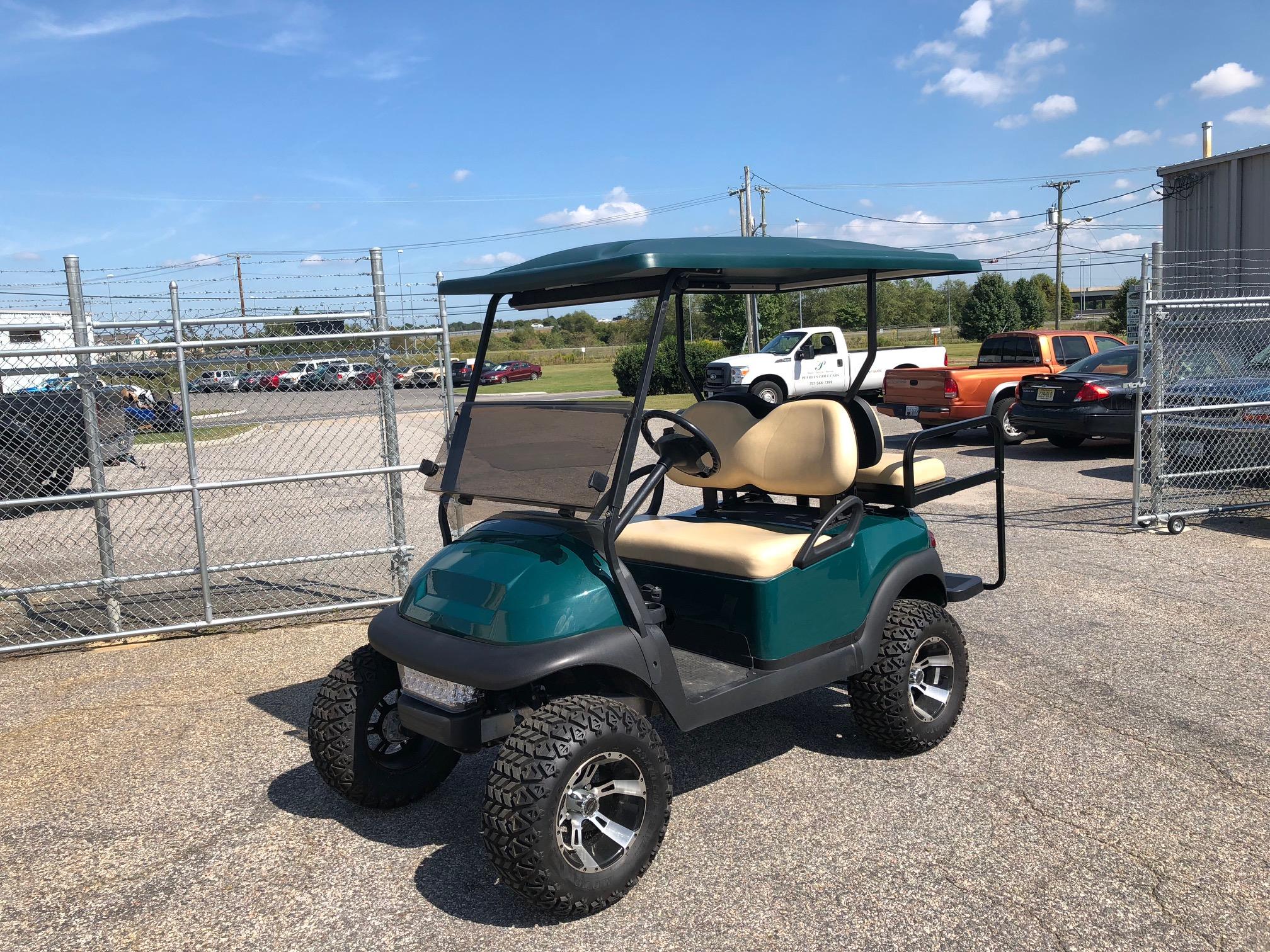 2013 Club Car Precedent Lifted Electric Golf Car Green
