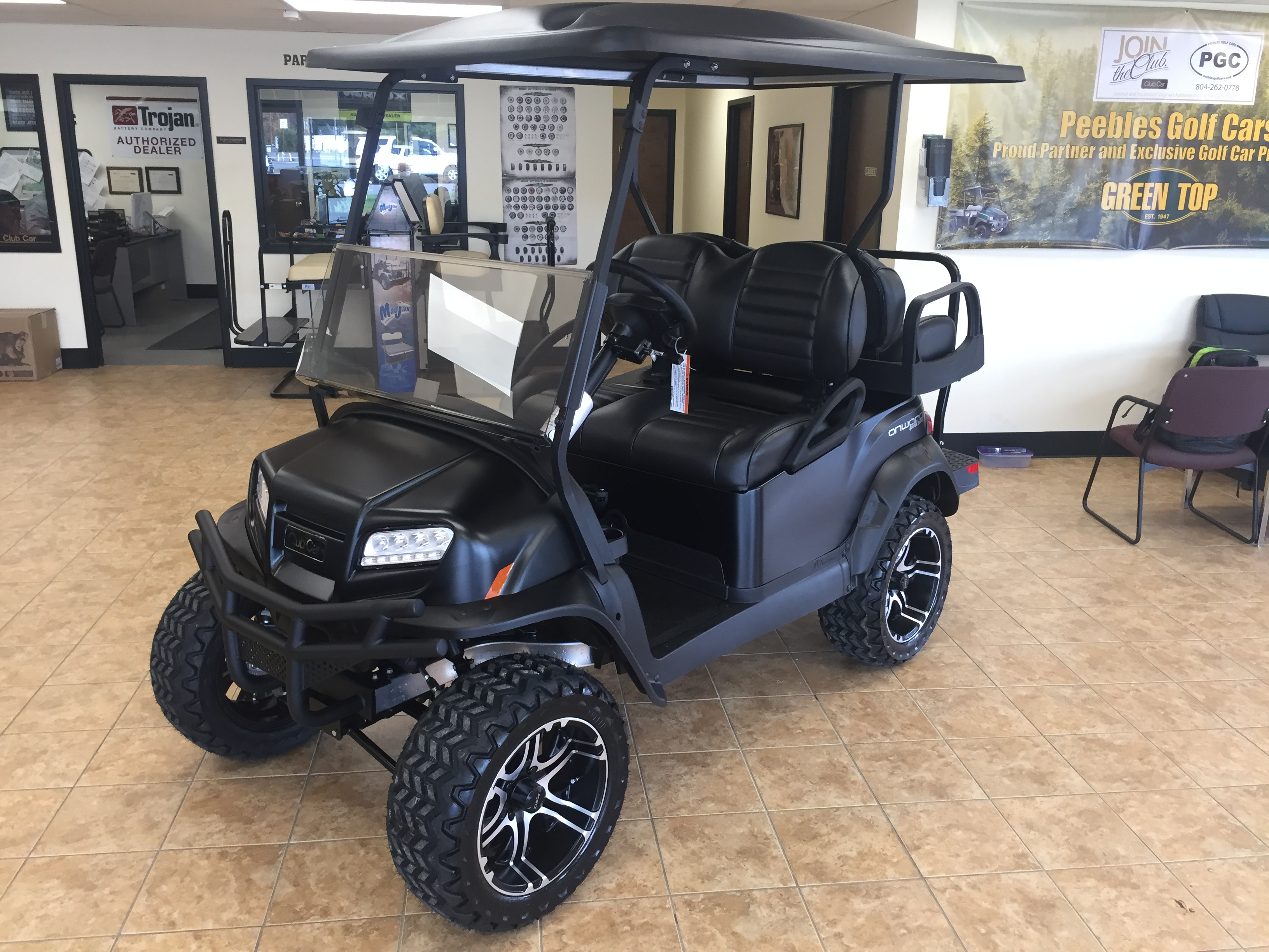 2019 Special Edition Onward Electric Golf Car Matte Black Peebles