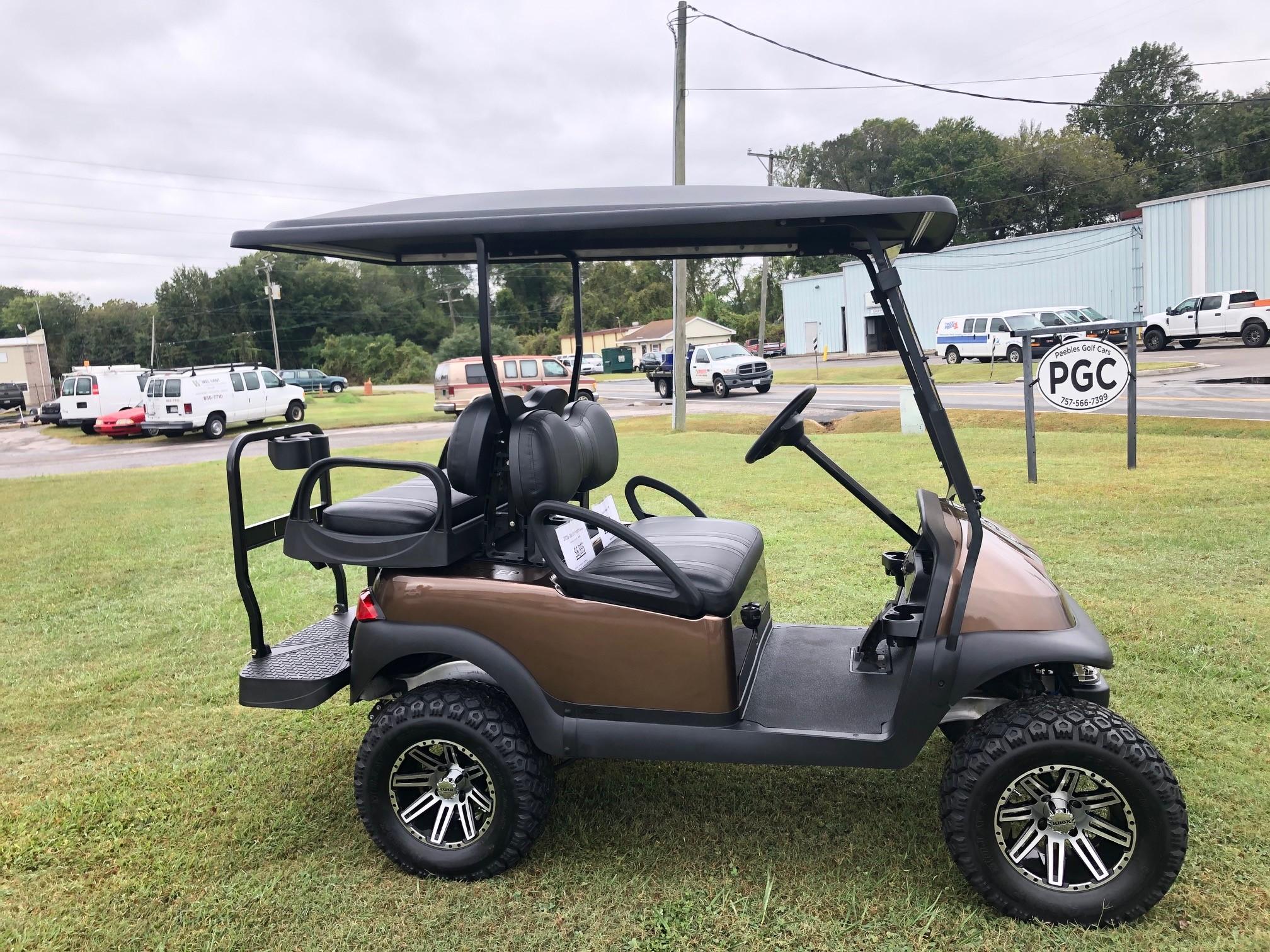 2016 Club Car Precedent Lifted Electric Golf Car Mocha